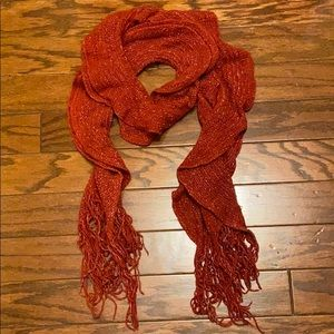 Red Sparkling Scarf